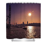 London By Night By Day Shower Curtain