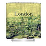 London Calling You Back Shower Curtain