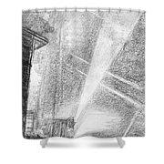 London, Charing Cross.  Shower Curtain