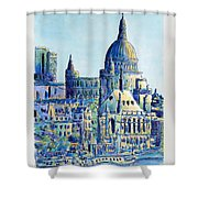 London City St Paul's Cathedral Shower Curtain