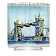 London City Tower Bridge Shower Curtain