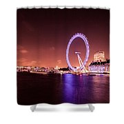 London Cityscape On River Thames Shower Curtain