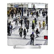 London Commuter Art Shower Curtain