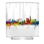 London England Skyline 16x20 Ratio Shower Curtain