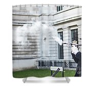 London Explosion 2 Shower Curtain