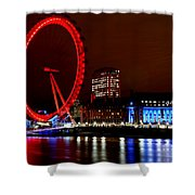 London Eye Shower Curtain by Heather Applegate