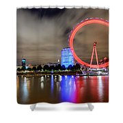 London Eye Shower Curtain by Ivelin Donchev