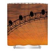 London Eye Sunset Shower Curtain