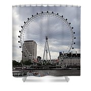 London Eye View Shower Curtain
