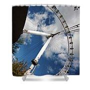 London Ferris Wheel Shower Curtain