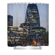 London Financial District Shower Curtain