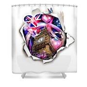 ''london'' Shower Curtain