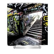 London Graffiti Art Shower Curtain