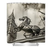London Guardians Shower Curtain