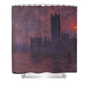 London Houses Of Parliament At Sunset  Shower Curtain