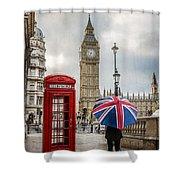 London Lady Shower Curtain