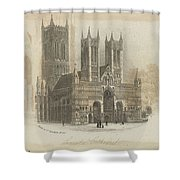 London Lincoln Cathedral. Shower Curtain