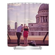 London Love, Love London Shower Curtain