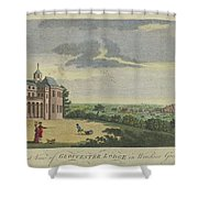 London Magazine, London South East View Of Gloucester Lodge In Windsor Great Park Published Aug 1780 Shower Curtain