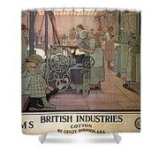 London Midland And Scottish Railway, British Industries - Retro Travel Poster - Vintage Poster Shower Curtain