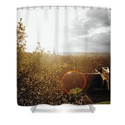London Partialy Cloudy With A Chance Of Flare Shower Curtain