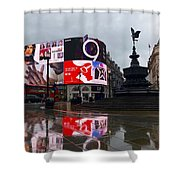 London Piccadilly On A Rainy Day Shower Curtain