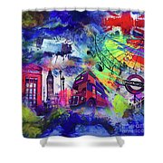 London Portrait  Shower Curtain