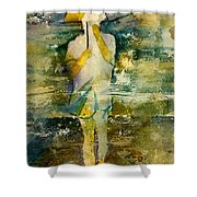 London Rain Theme Shower Curtain