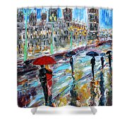 London Rainy Evening Shower Curtain