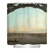 London Seen Through An Arch Of Westminster Bridge Shower Curtain