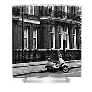 London Sixties Lambretta Shower Curtain
