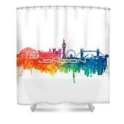 London Skyline City Color Shower Curtain
