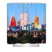 London Skyline Collage 1 Shower Curtain