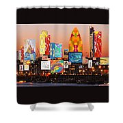 London Skyline Collage 2 Shower Curtain