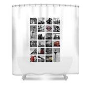 London Squares Shower Curtain