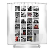 London Squares Shower Curtain