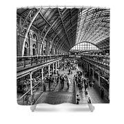 London St Pancras Station Bw Shower Curtain