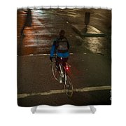 London Streets In Cold Whether . Shower Curtain