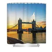London Sunrise 2 Shower Curtain