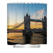 London Sunrise Shower Curtain