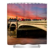 London Sunset Shower Curtain
