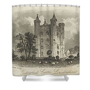 London Tattershall Castle, Lincolnshire. Published 1 Dec 1849 Shower Curtain