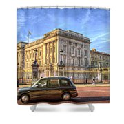 London Taxi And Buckingham Palace  Shower Curtain
