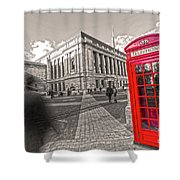 London Telephone 2 C Shower Curtain