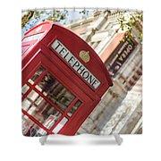 London Telephone 3 Shower Curtain