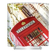 London Telephone 3 Shower Curtain