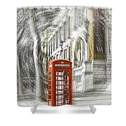 London Telephone C Shower Curtain