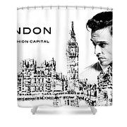 London The Fashion Capital Shower Curtain