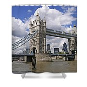 London Towerbridge Shower Curtain
