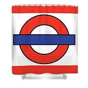 London Underground Blank Shower Curtain